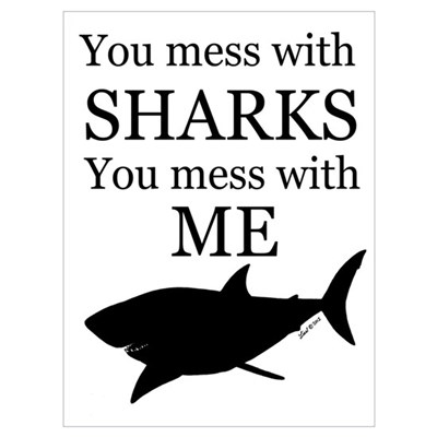Don't Mess with Sharks Wall Art Canvas Art