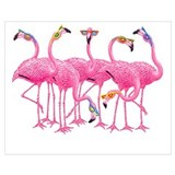 Flamingo Wrapped Canvas Art