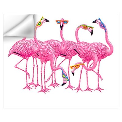 Cool Flamingoes Wall Art Wall Decal
