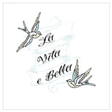 La Vita e Bella - Life is Bea Wall Art Framed Print