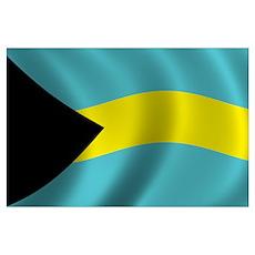 Flag of Bahamas Wall Art Poster