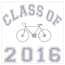Class Of 2016 Cyclist Wall Art Poster