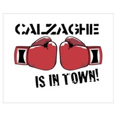CALZAGHE IN TOWN Wall Art Poster