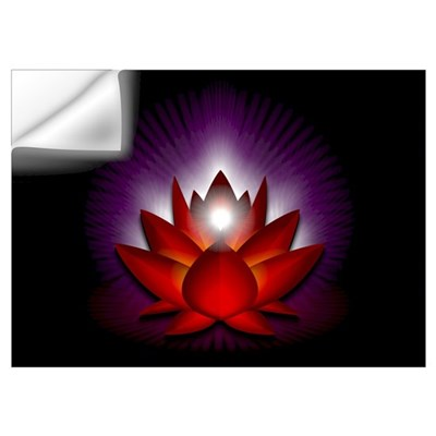 "Red ""Root"" Chakra Lotus Wall Art Wall Decal"