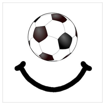 Soccer Smile Wall Art Poster