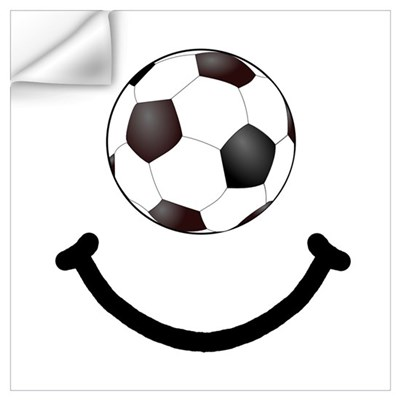 Soccer Smile Wall Art Wall Decal