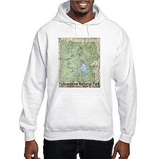 Yellowstone Topo Map Hoodie