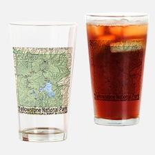 Yellowstone Topo Map Drinking Glass