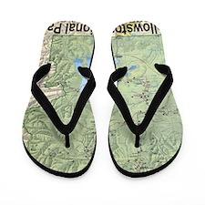 Yellowstone Topo Map Flip Flops
