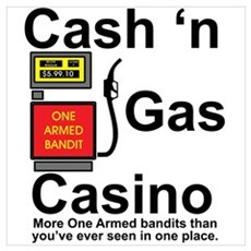 Cash N' Gas Wall Art Poster