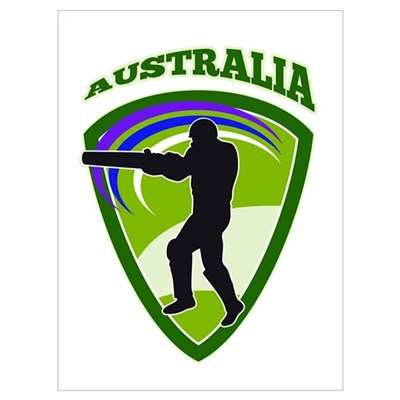 cricket batsman Australia Wall Art Poster