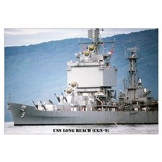 USS LONG BEACH Wall Art Canvas Art