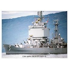 USS LONG BEACH Wall Art Poster