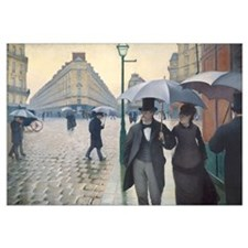Rainy Day in Paris, Caillebotte Wall Art