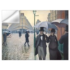 Rainy Day in Paris, Caillebotte Wall Art Wall Decal