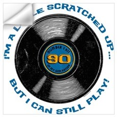 Scratched Record 90th Birthday Wall Art Wall Decal