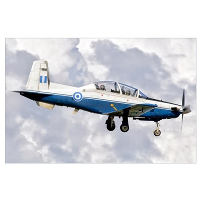 A Hellenic Air Force T-6 Texan II prepares for lan Poster