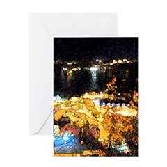 Quebec night view Greeting Card