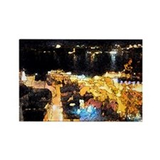 Quebec night view Rectangle Magnet