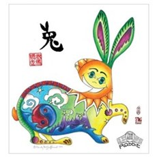 Moongate Year of the Rabbit Wall Art Canvas Art