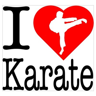 I Love Karate Wall Art Poster