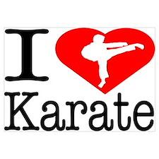 I Love Karate Wall Art