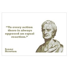 Newton - Action Wall Art Poster