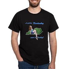 A Girl in Kentucky ... Black T-Shirt