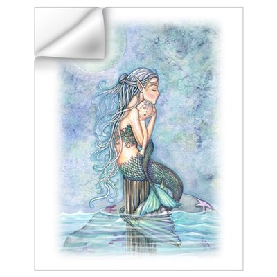 Mother and Baby Mermaid Wall Art Wall Decal
