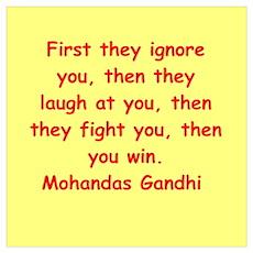 gandhi quote Wall Art Poster