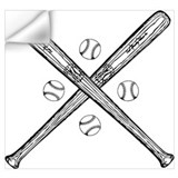 Baseball bat Wall Decals