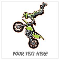Motocross Jump Wall Art Poster