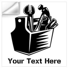 Tools with Text in Black. Wall Art Wall Decal