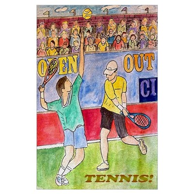 Tennis! Wall Art Poster