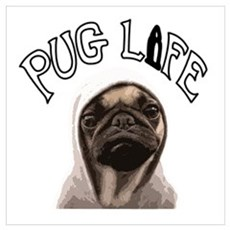 Pug Life Wall Art Canvas Art