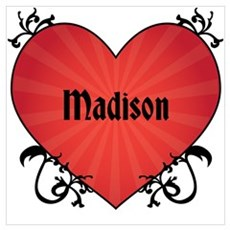 Custom Name Tattoo Heart Wall Art Poster