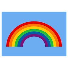 Retro Rainbow Wall Art
