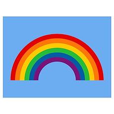 Retro Rainbow Wall Art Poster