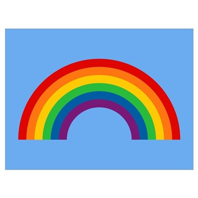 Retro Rainbow Wall Art Poster