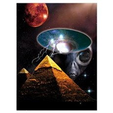 Ancient Aliens Wall Art Framed Print