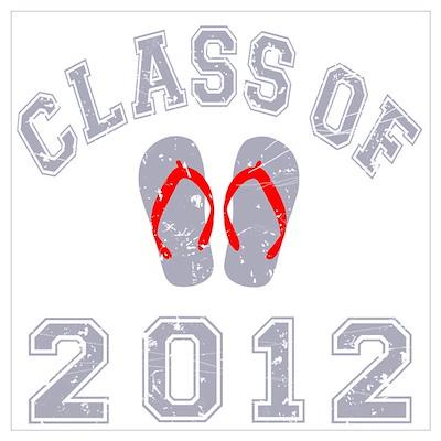 Class Of 2012 Flip Flop Wall Art Poster