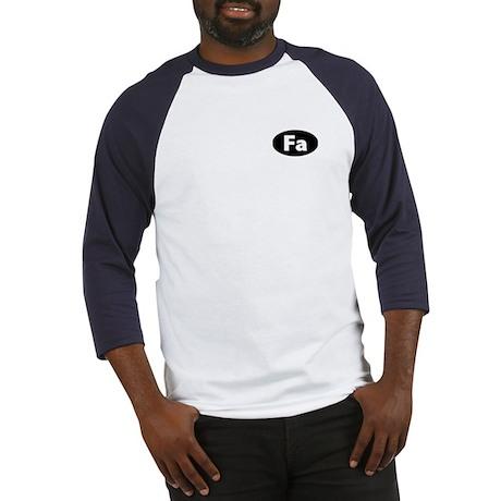 """FA"" (black) Baseball Jersey"