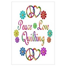 Peace Love Quilting Wall Art