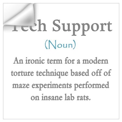 Tech Support Definition (Con) Wall Art Wall Decal