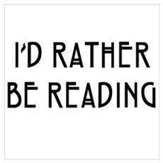 Rather Be Reading Nouveau Wall Art Framed Print