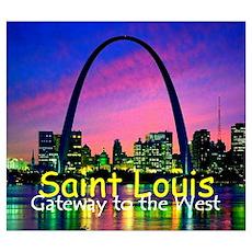 St. Louis Wall Art Poster