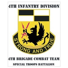 DUI - 4th BCT - Special Troops Bn with Text Mini P Poster