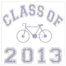 Class Of 2013 Cyclist Wall Art Poster