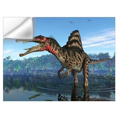 A Spinosaurus searches for its next meal Wall Decal