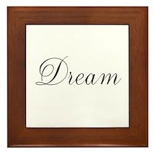 Dream Inspiration Word Framed Tile